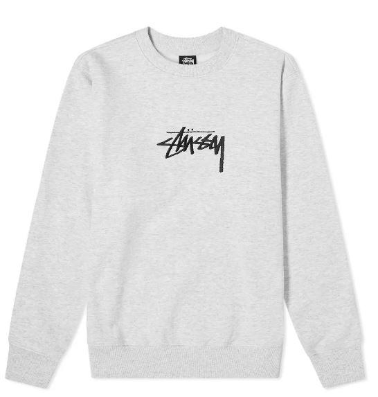 LOGO SWEATSHIRT STUSSY | Sweatshirts | 118419ASH HEATHER