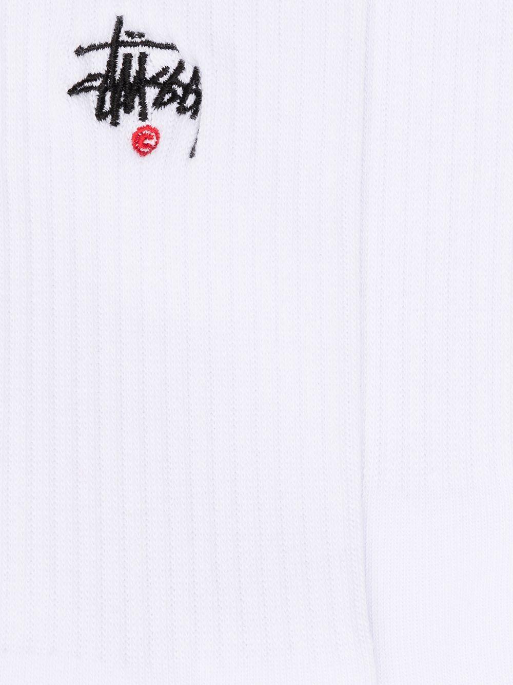 Stussy calzini con logo uomo STUSSY | Calzini | 138713WHITE