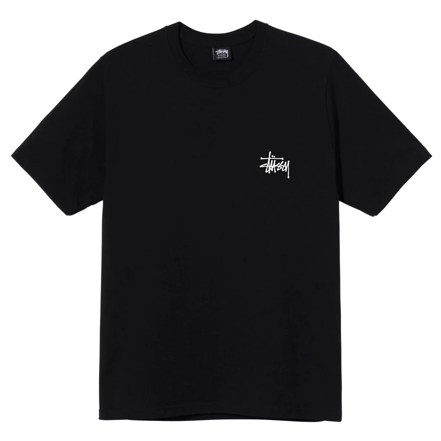 BASIC T-SHIRT STUSSY | T-shirts | 1904649BLACK