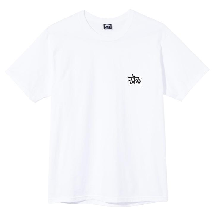 basic t-shirt unisex white in cotton STUSSY | T-shirts | 1904649WHITE