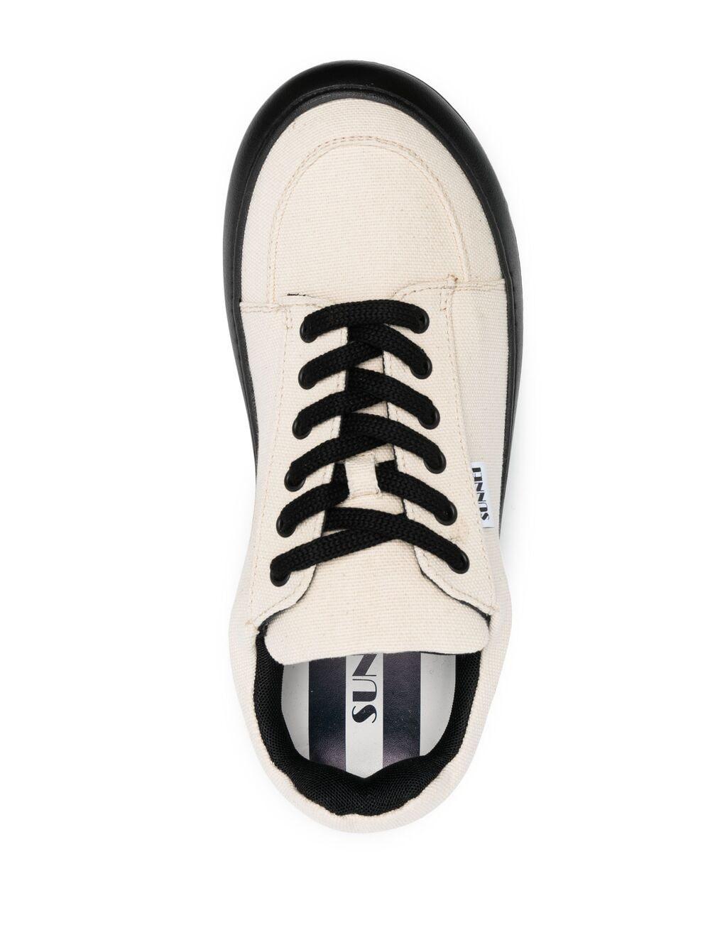 Sunnei contrast sole sneakers man white SUNNEI | Sneakers | D03BEIGE