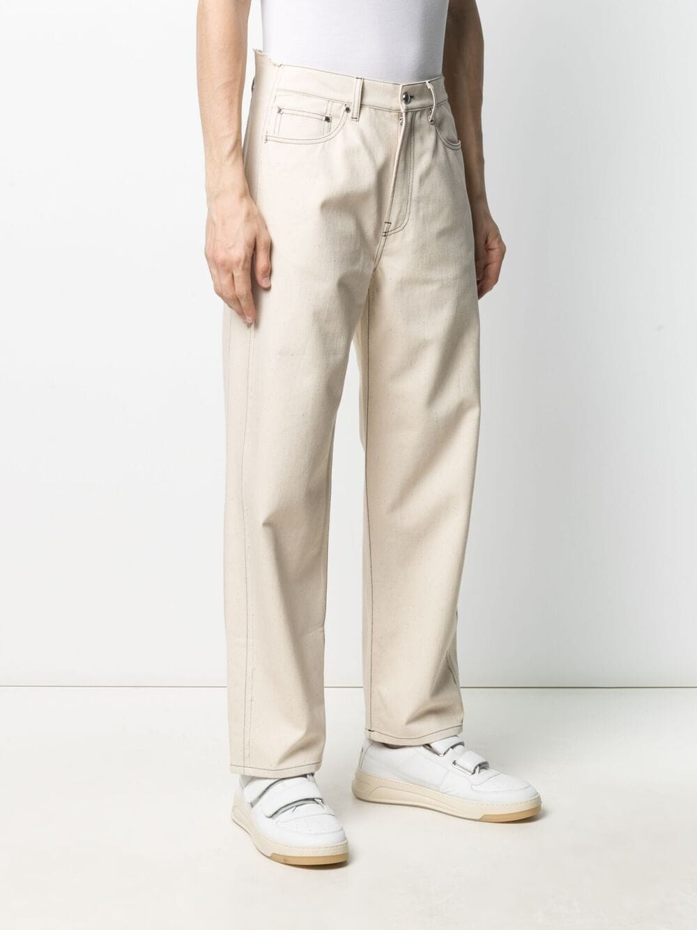 Sunnei high waist straight jeans man off white SUNNEI | Trousers | SN1SMT11AP - TE238.005OFFWHITE