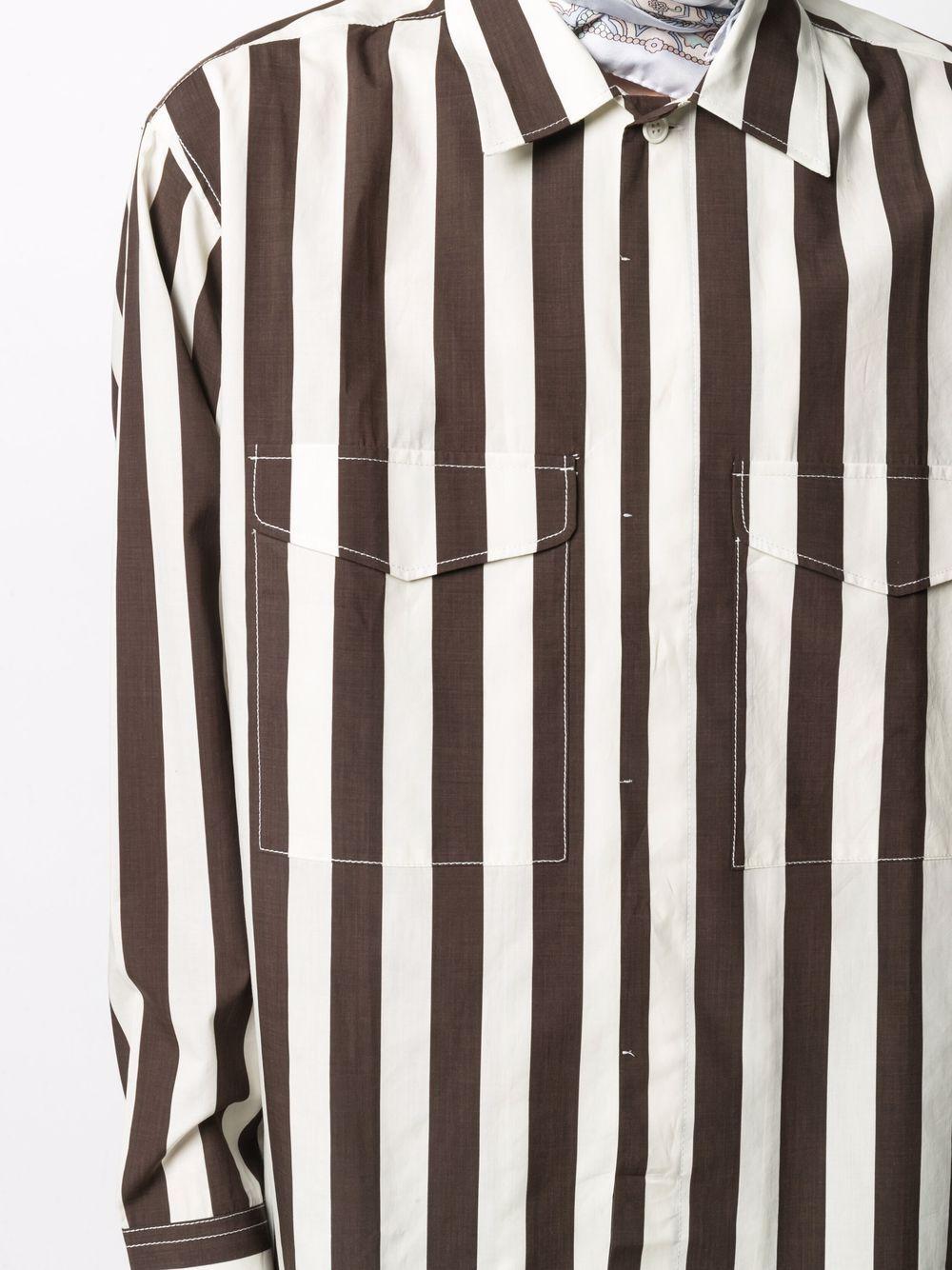 Sunnei stripe shirt man white SUNNEI | Shirts | SN1SXS06BP - TR079.R18OWHITEBROWN