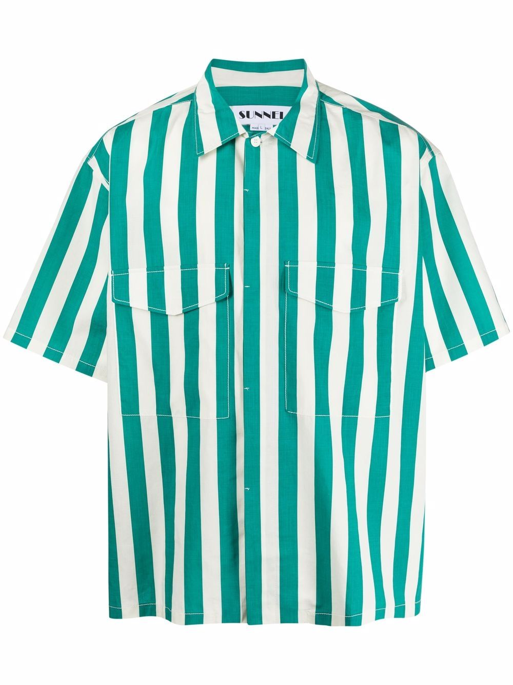 Sunnei camicia a righe uomo bianco SUNNEI | Camicie | SN1SXS09AP - TR079.R23OWHITESTRIPE