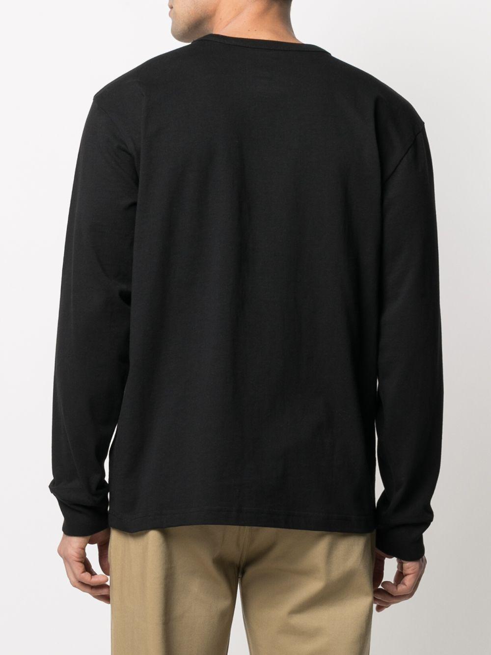 T-shirt maniche lunghe nera uomo in cotone VANS VAULT | T-shirt | VN0A5E1LBLK1