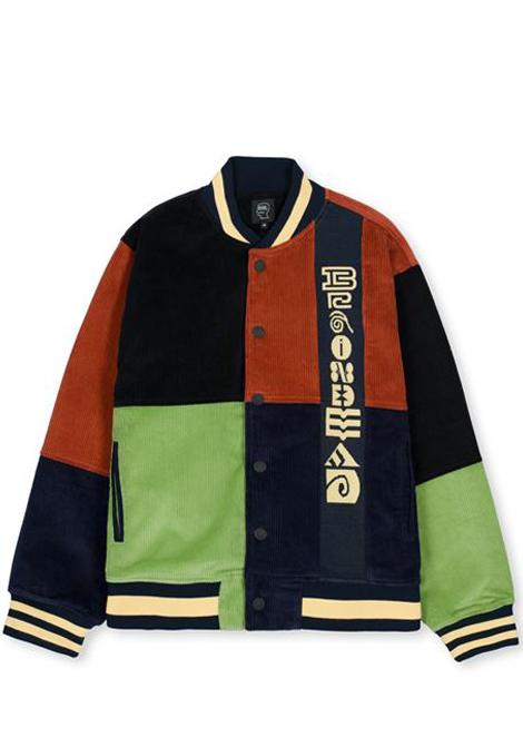 Brain dead jacquard patchwork letterman jacket man BRAIN DEAD | Jackets | P21O01001797MULTI