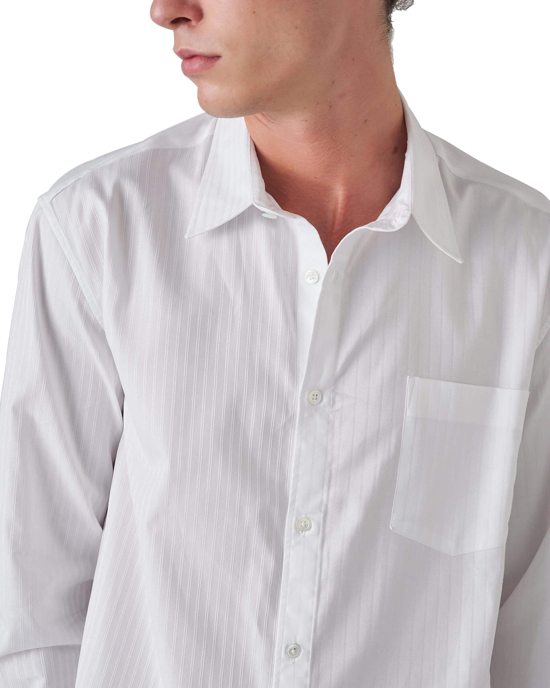 Camicia Slim Bianca Uomo Cotone GRIFONI | Camicie | GI120001/5001