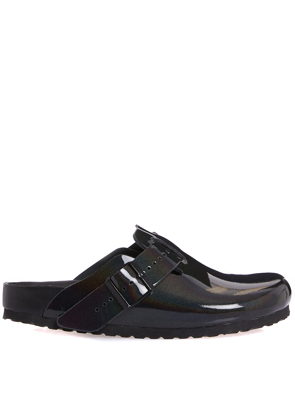 Iridiscent boston sandals Man Black Leather RICK OWENS X BIRKENSTOCK   Sandals   BM21S6809 1949586