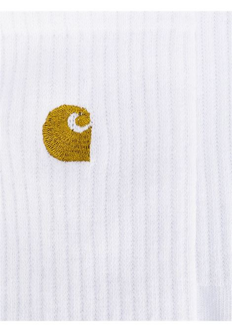 calzini con logo uomo bianco CARHARTT WIP | Calzini | I02652702.90