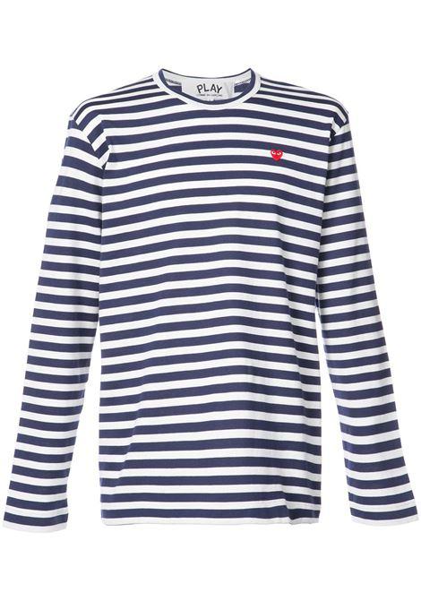 Comme Des Garçons Play t-shirt play manica lunga uomo COMME DES GARÇONS PLAY | T-shirt | P1T2081