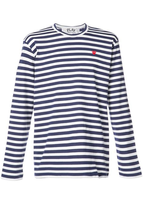 Comme Des Garçons play long sleeve man blue COMME DES GARÇONS PLAY | T-shirts | P1T2081
