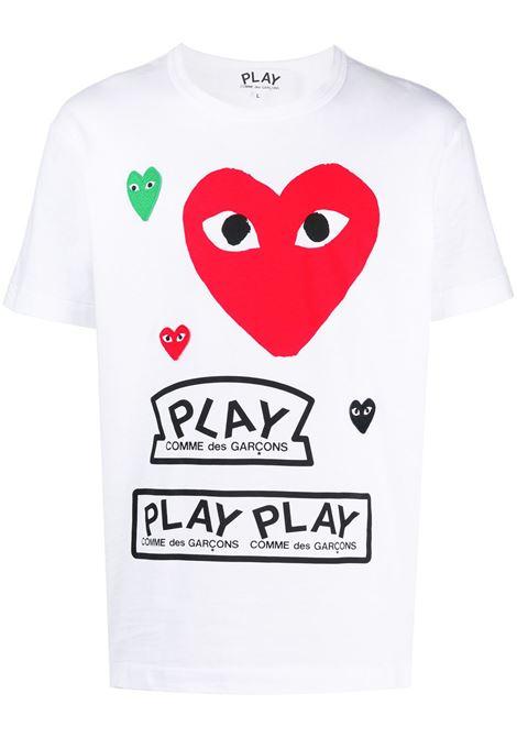 Comme Des Garçons Play t-shirt man white COMME DES GARÇONS PLAY | T-shirts | P1T2801