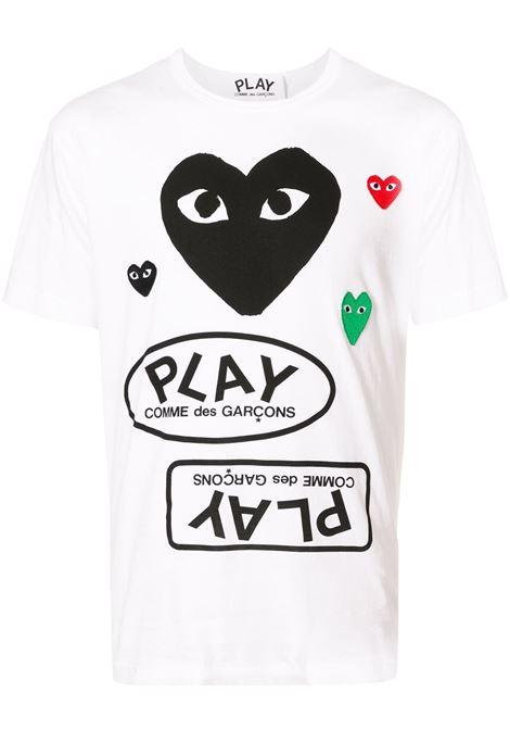 Comme Des Garçons Play t-.shirt man white COMME DES GARÇONS PLAY | T-shirts | P1T2821