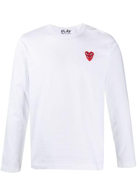 Comme Des Garçons Play t-shirt man white COMME DES GARÇONS PLAY | T-shirts | P1T2922