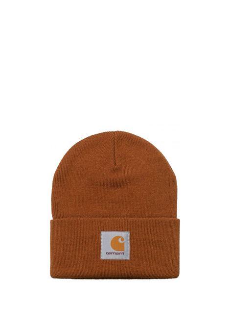 Carhartt Wip cappello con logo uomo marrone CARHARTT WIP | Cappelli | I017326.060E9.00