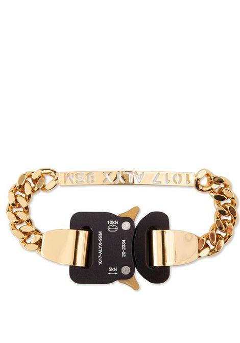 bracciale con fibbia uomo oro in metallo 1017 ALYX 9SM | Gioielli | AAUJW0034OT01GLD0003