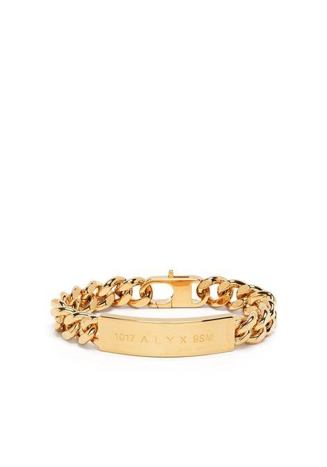 bracciale con logo uomo oro 1017 ALYX 9SM | Gioielli | AAUJW0119OT01GLD0003