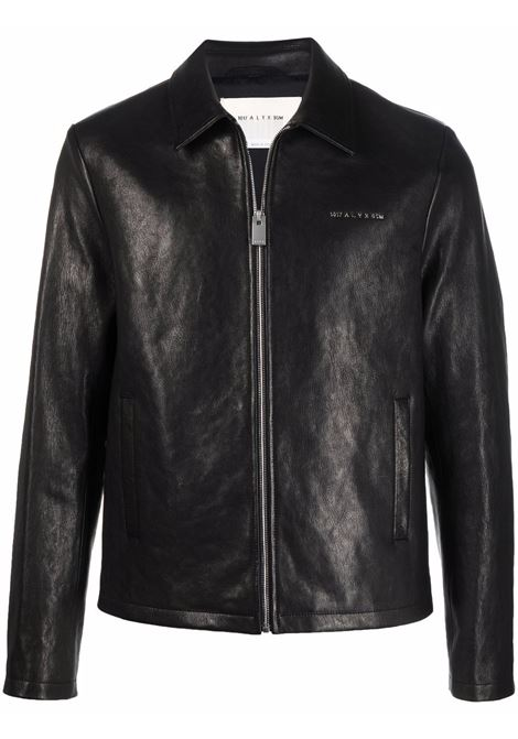giacca leone uomo nera in pelle 1017 ALYX 9SM | Giacche | AAUOU0259LE01BLK0001