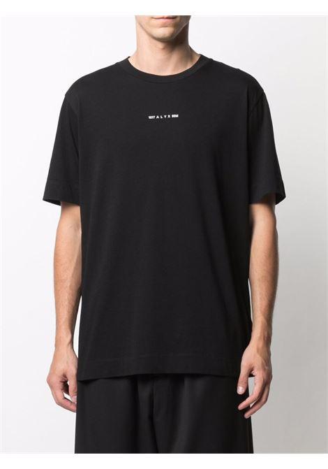 t-shirt con logo uomo nera in cotone 1017 ALYX 9SM | T-shirt | AAUTS0232FA01BLK0001