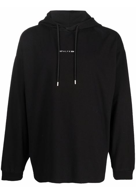 hooded t-shirt man black in cotton 1017 ALYX 9SM | T-shirts | AVUTS0018FA02BLK0001