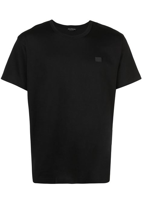 t-shirt nash face unisex nera in cotone ACNE STUDIOS | T-shirt | 25E173BLACK