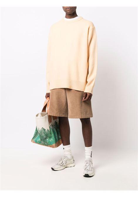 wool and cashmere sweater man vanilla yellow ACNE STUDIOS | Sweaters | B60183VANILLA YELLOW