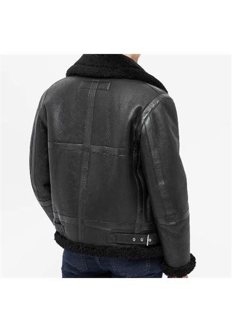 giacca aviator uomo nera in pelle ACNE STUDIOS | Giacche | B70077BLACK