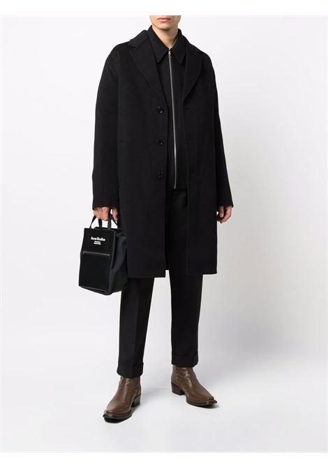 cappotto monopetto uomo nero in lana ACNE STUDIOS | Giacche | B90548BLACK