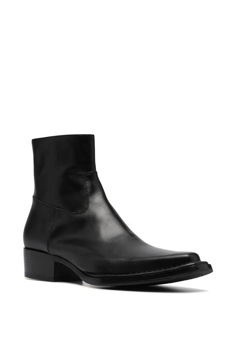 ankle boots man black in leather ACNE STUDIOS | Boots | BD0144BLACK