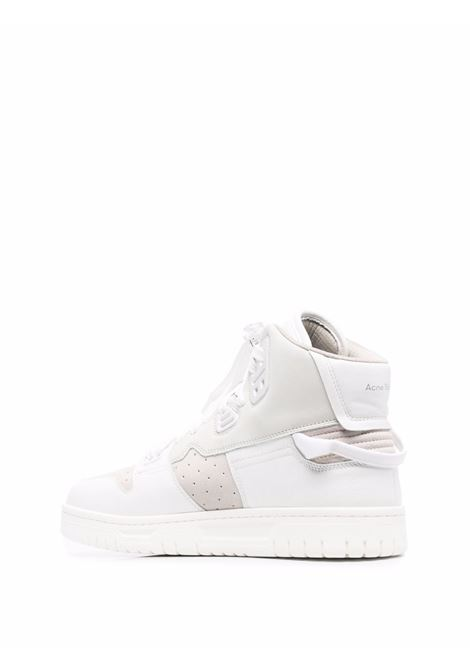 high sneakers man white in leather ACNE STUDIOS | Sneakers | BD0170MULTI WHITE