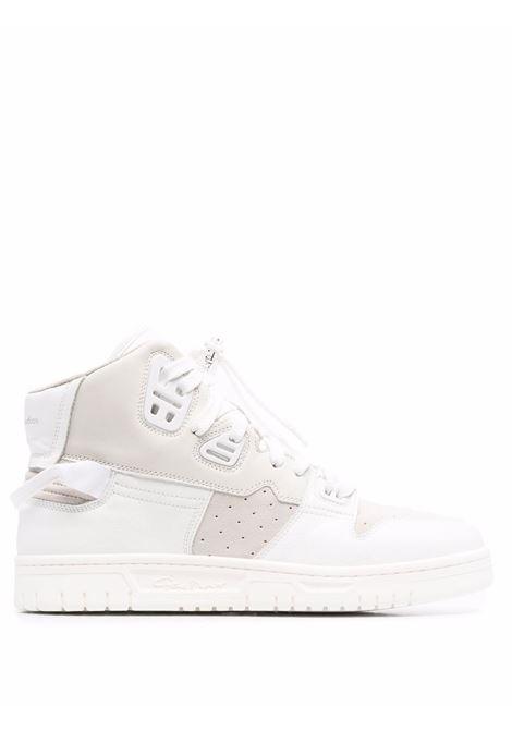 sneakers alte uomo bianche in pelle ACNE STUDIOS | Sneakers | BD0170MULTI WHITE