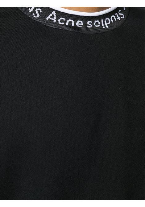 logo sweatshirt man black ACNE STUDIOS | Sweatshirts | BI0078BLACK
