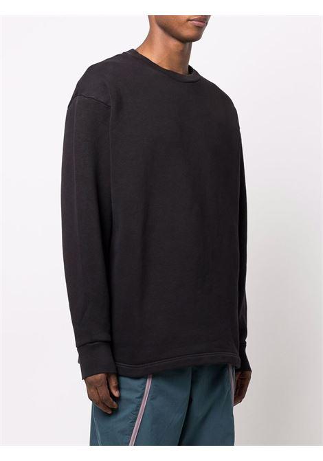 felpa con stampa uomo nera in cotone ACNE STUDIOS | Felpe | BI0130BLACK