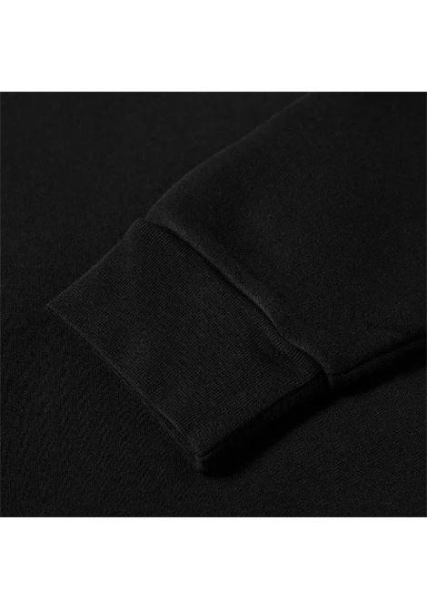 felpa con cappuccio uomo nera in cotone ACNE STUDIOS | Felpe | BI0140BLACK
