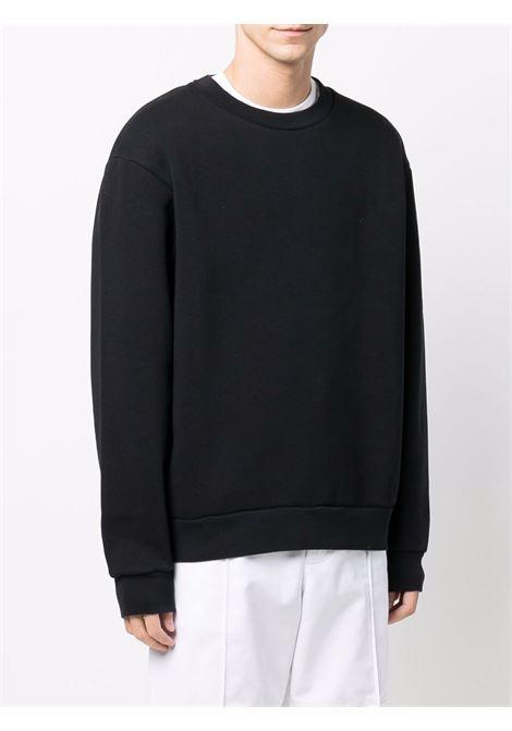crew neck sweatshirt man black in cotton ACNE STUDIOS   Sweatshirts   BI0142BLACK