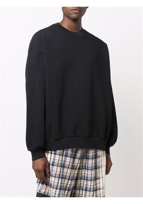 crew neck sweatshirt man black in cotton ACNE STUDIOS   Sweatshirts   BI0143BLACK
