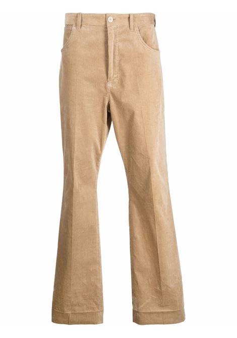 flared trousers man beige in cotton ACNE STUDIOS | Trousers | BK0402CLAY BEIGE