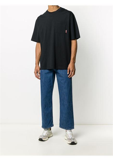 pocket t-shirt man black in cotton ACNE STUDIOS | T-shirts | BL0214BLACK