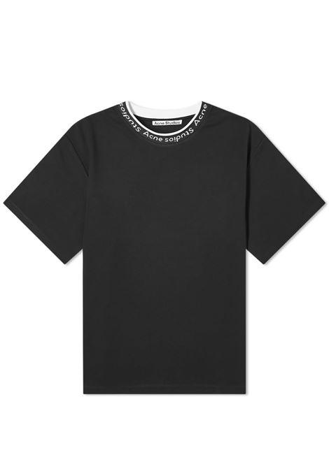 t-shirt con logo uomo nera in viscosa ACNE STUDIOS | T-shirt | BL0221BLACK