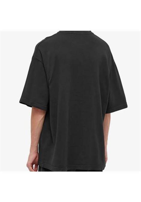 t-shirt con stampa uomo nera in cotone ACNE STUDIOS | T-shirt | BL0287BLACK