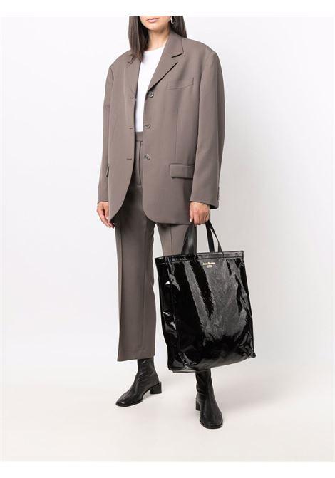 tote bag unisex black in leather ACNE STUDIOS | Bags | C10102BLACK