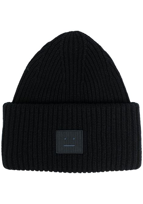 cappello con applicazione unisex nero in lana ACNE STUDIOS | Cappelli | C40135BLACK