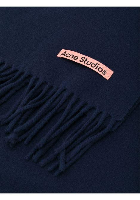 sciarpa canada new unisex blu in lana ACNE STUDIOS | Sciarpe | CA0102NAVY