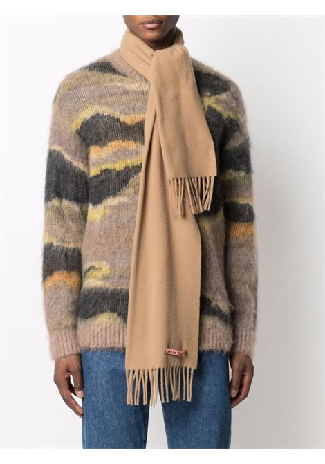 sciarpa skinny unisex cammello in lana ACNE STUDIOS | Sciarpe | CA0157DARK CAMEL