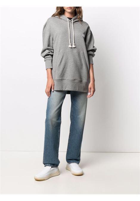 hoodie unisex gray in cotton ACNE STUDIOS   Sweatshirts   CI0075LIGH GREY MELANGE