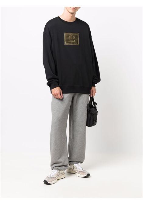 pantaloni sportivi unisex grigi in cotone ACNE STUDIOS   Pantaloni   CK0038LIGHT GREY MELANGE