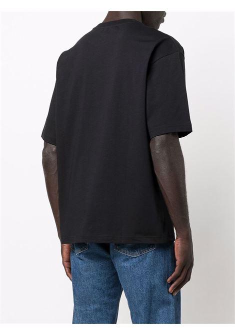 face patch t-shirt unisex black in cotton ACNE STUDIOS | T-shirts | CL0101BLACK