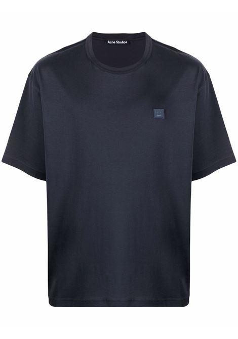 bio cotton t-shirt unisex black ACNE STUDIOS | T-shirts | CL0108BLACK