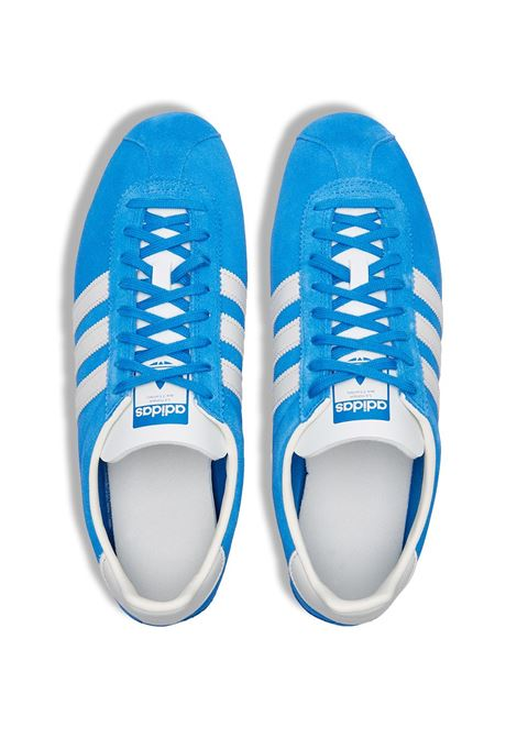 gazelle vintage sneakers man light blue in leather ADIDAS | Sneakers | H02897BLUEBIRD