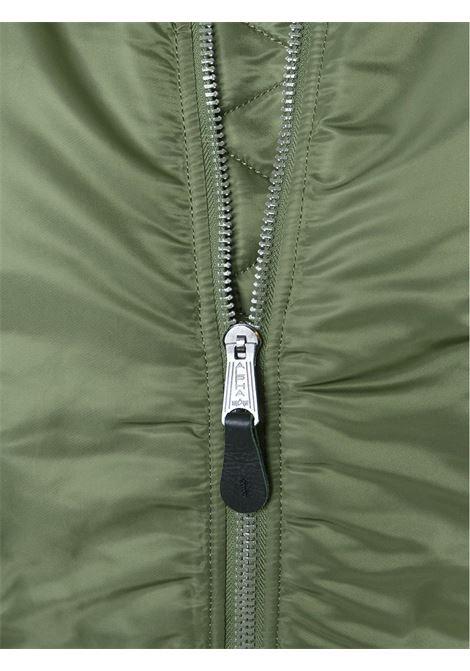giacca ma1 uomo verde in nylon ALPHA INDUSTRIES | Giacche | 10010101